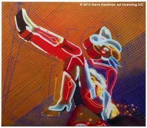 Neon Cow Girl - Steve Kaufman