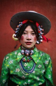 Woman at a horse festival Tagong (Tibet, 1999)