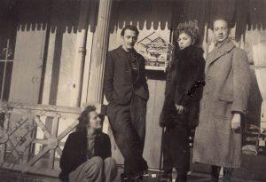 Gala, Salvator Dalì, Leonor Fini, André Pieyre de Mandiargues by Stanislao Lepri, 1940