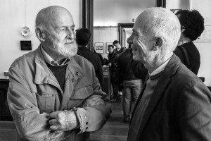 Ennio Demarin con Ugo Borsatti