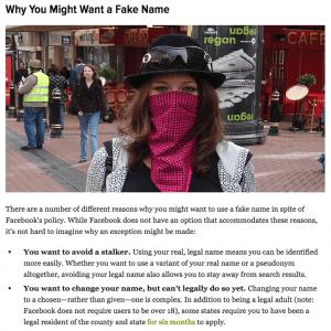 Facebook - false identità