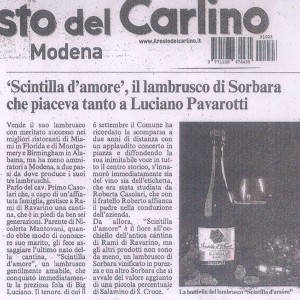 Vini Casolari - Luciano Pavarotti - Resto del Carlino Modena