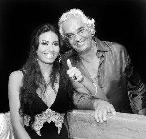 Briatore e la moglie Elisabetta Gregoraci . Ph Melozzi
