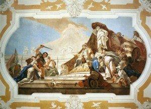 [IMMAGINE 03] G.B. Tiepolo_Il giudizio di Salomone_Udine_Palazzo Patriarcale_sala rossa (1729)