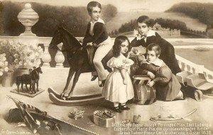 I fratelli Asburgo giocano_si nota anche la sorellina Maria Anna 1838