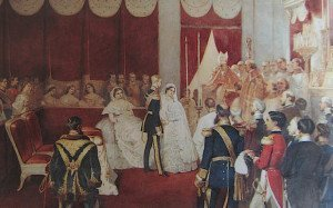 Il matrimonio presso la cappella del Palazzo Reale di Bruxelles