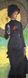 Dama con ombrello. Mrs Newton 1878 Tissot