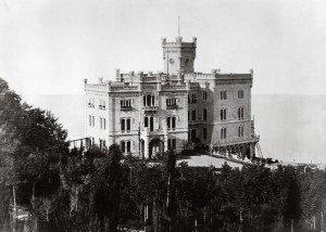 Fotografia storica del Castello di Miramare