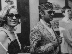 Mario Scarpati con la moglie Elsa Fonda all'Accademia di Cracovia 1984