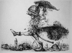 Il cavaliere scortese puntasecca 1982 - Scarpati