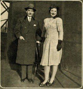 Maria con il padre a New York nel 1945