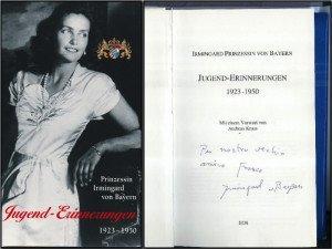 Principessa Irmingard di Baviera - libro con dedica di Irmingard di Baviera a Gianfranco Oradini